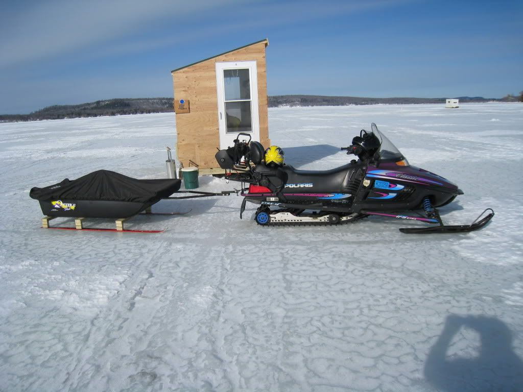 Sled mods for Ice fishing snowmobile