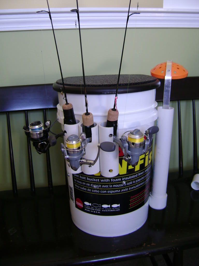 Ice fishing bucket for Fishing bucket seat