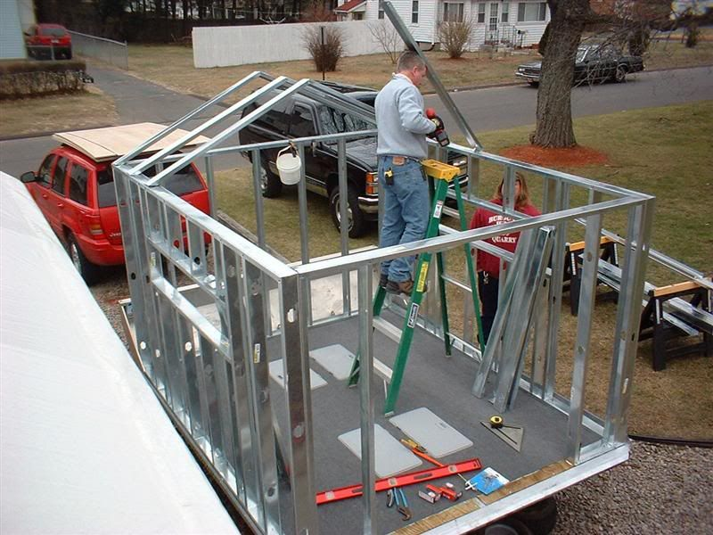 Anyone use metal studs framing ice shack???