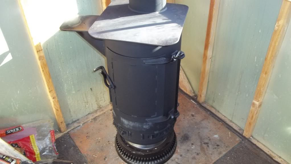 Well Here Is My Homemade Shop Stove End Of A 500 Gallon Propane Tank With 16 Inch Truck Rim For Door Frame Burns Whatever Goes Through The