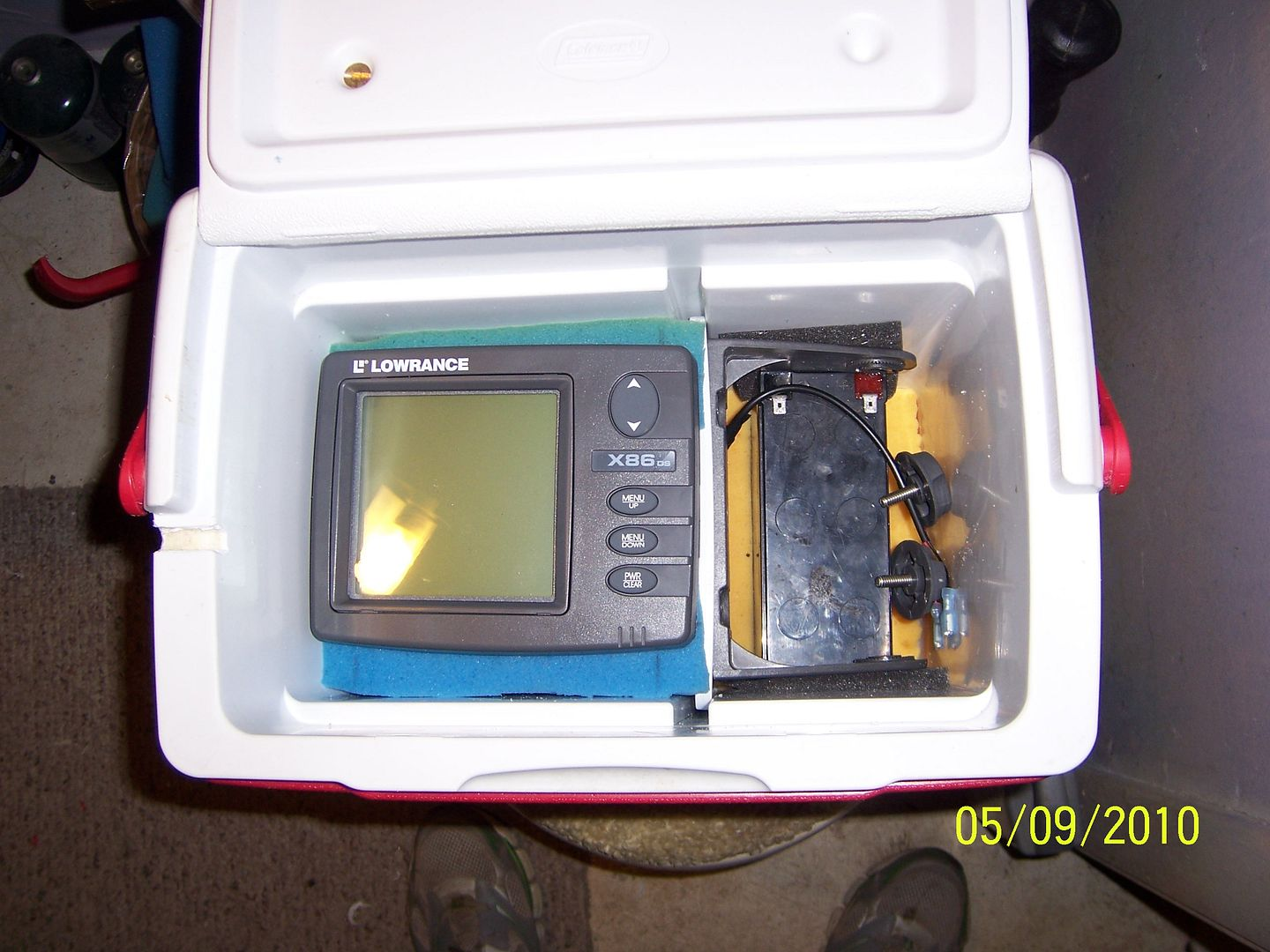 Lets see your homemade portable sonar fishfinder flasher units for Ice fishing locators
