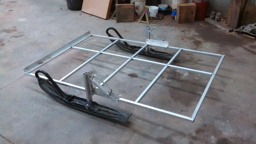 Lightweight skid house build frame for Ice fish house accessories