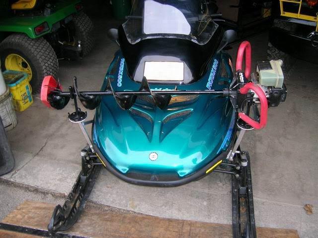 Snowmobile Auger Rack