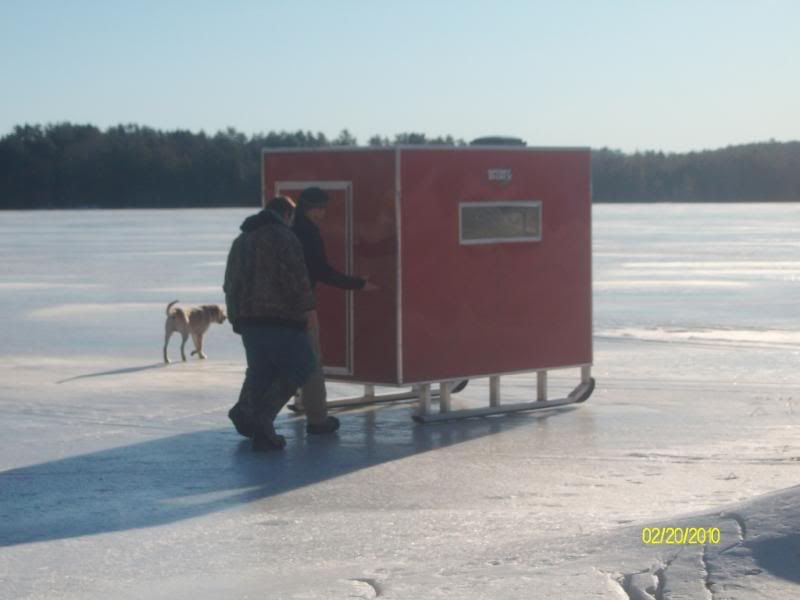 Sno pro ice shacks anybody tried one for Ice fishing shacks