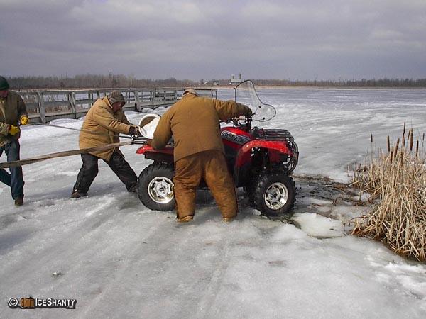 Atv ice fishing sled homemade for Atv ice fishing accessories